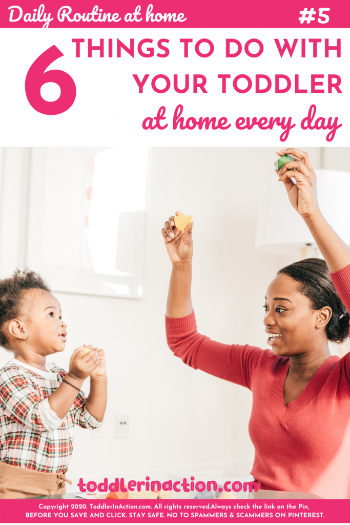 Daily routine with home toddler stay at home mom play