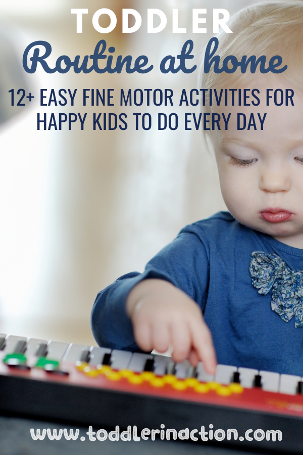12+ easy fine motor activities for kids and toddlers at home