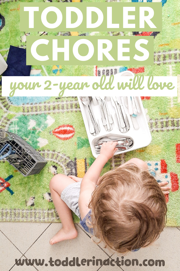 Easy Toddler chores that make my 2-year-old happy
