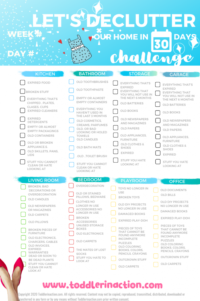 DECLUTTER OUR HOME 30 DAYS CHALLENGE
