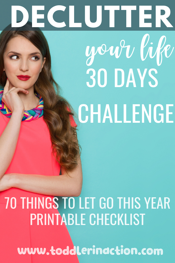 Declutter your life 30 days challenge free printable checklist