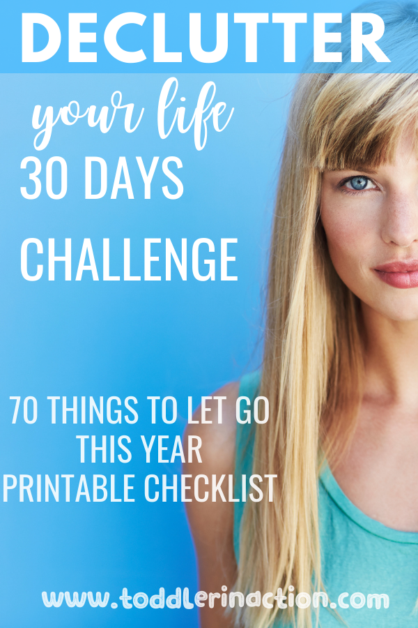 Declutter your life in 30 days challenge