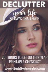DECLUTTER YOUR LIFE CHECKLIST 30 DAYS CHALLENGE