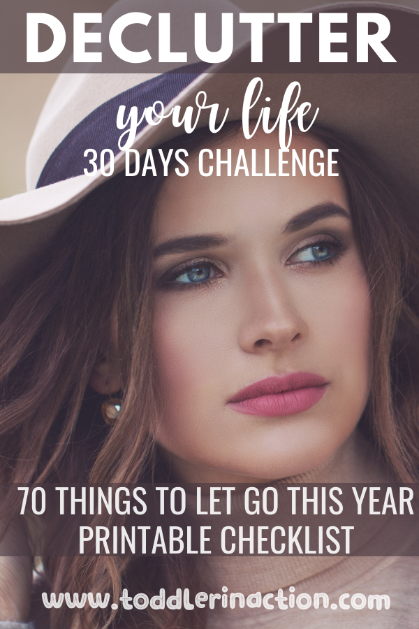 DECLUTTER YOUR LIFE CHECKLIST 30 DAYS CHALLENGE